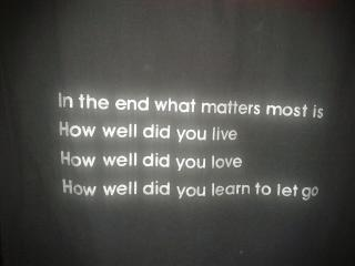 2 Relax and Succeed - In the end what matters most