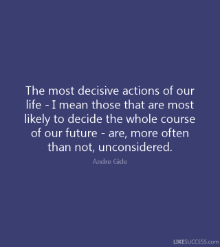 87 Relax and Succeed - The most decisive actions