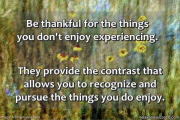 325 Relax and Succeed - Be thankful for the things you don't enjoy