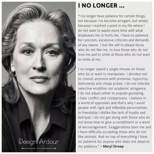 685 FD Relax and Succeed - Meryl Streep I no longer