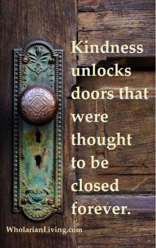 723 BY14 Relax and Succeed - Kindness unlocks doors