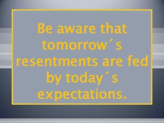 824 Relax and Succeed - Be aware that tomorrow's resentments