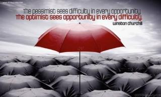860 Relax and Succeed - A pessimist sees difficulty