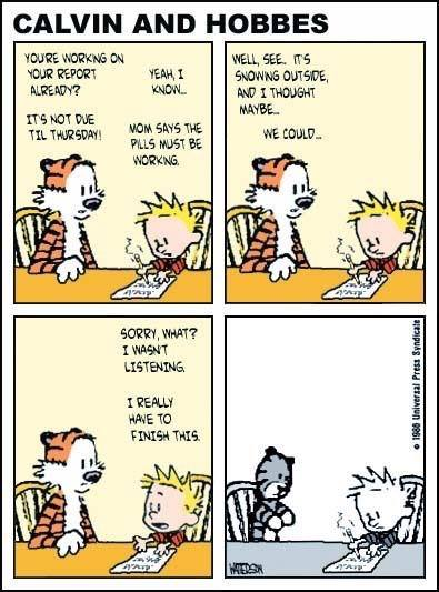 903 Relax and Succeed -Calvin and Hobbes