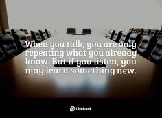 910 Relax and Succeed - When you talk you are