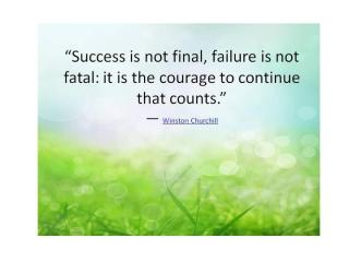 912 Relax and Succeed - Success is not final