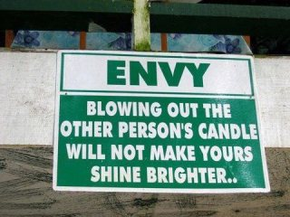965 Relax and Succeed - Envy blowing out the other person's candle